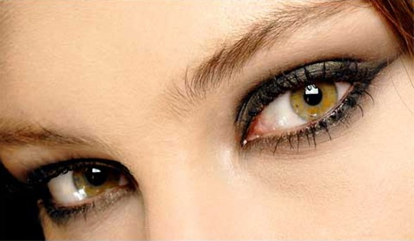 White Woman's Eyes Close Up
