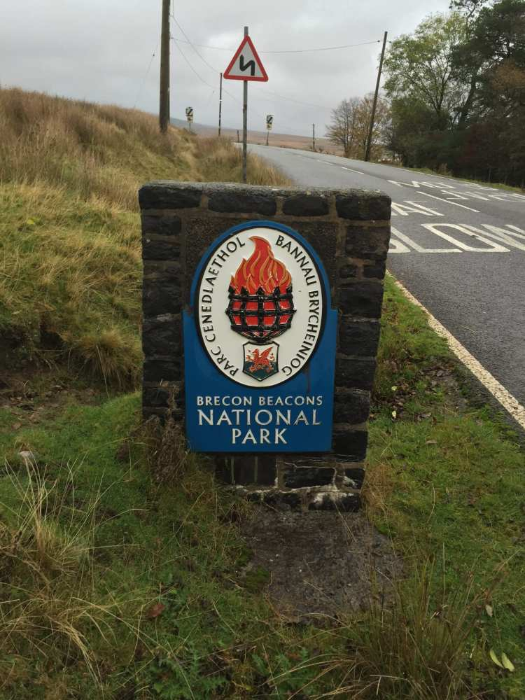 Entry to the Brecon Beacons National park