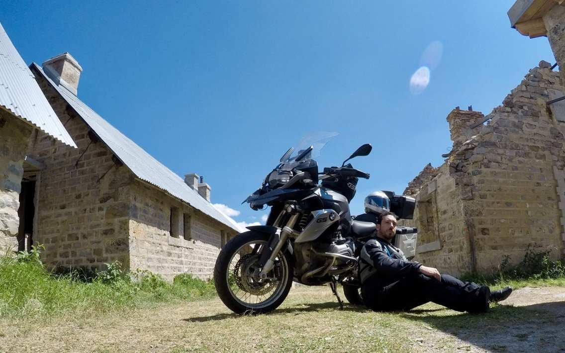R1200GS in a ghost town