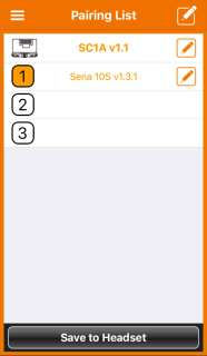 Schuberth C4 helmet iPhone App settings