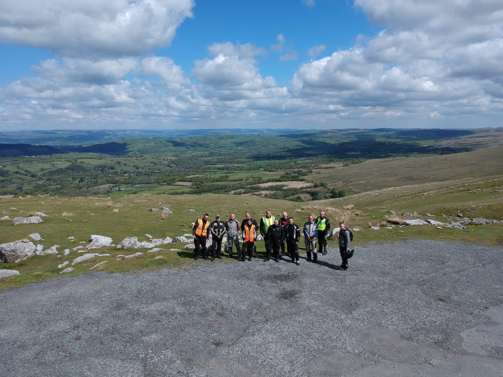 At the top of the Brecon Beacons