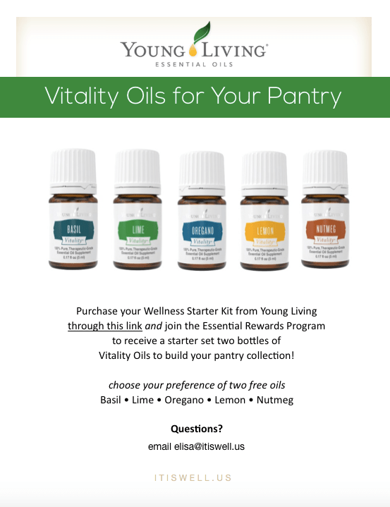 You Pick 2 Free Vitality Oils from Young Living