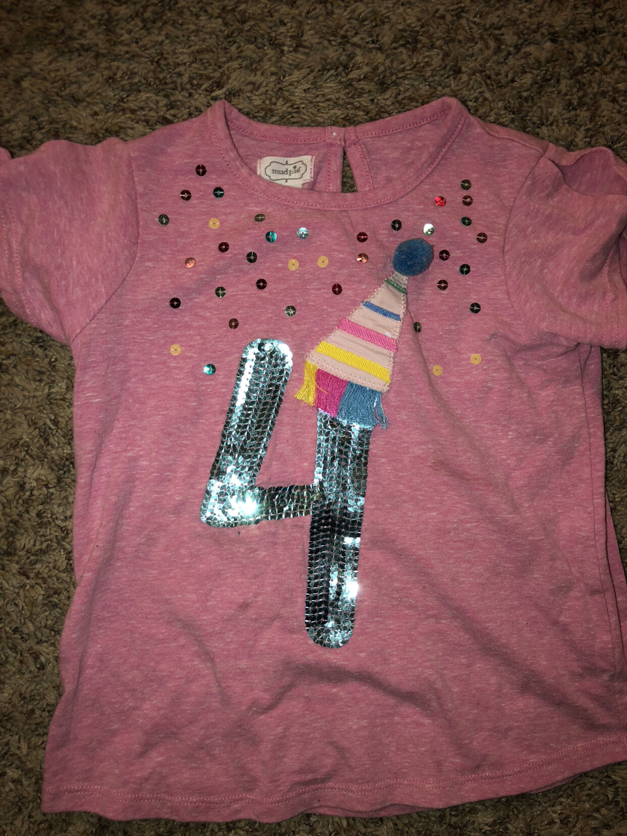 Mud Pie 4t 4 Birthday Shirt