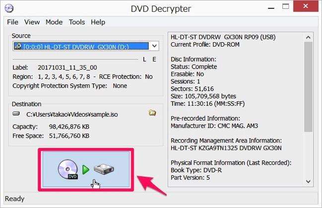 Img DVD Decrypter dvd copy 03