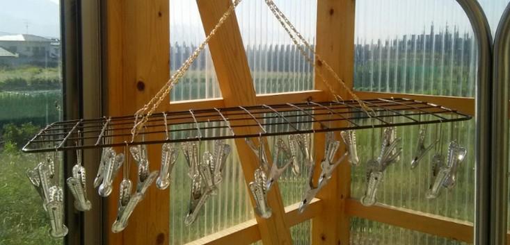 洗濯ハンガーを長持ちさせるため100円均一の金属材料で自作してみました