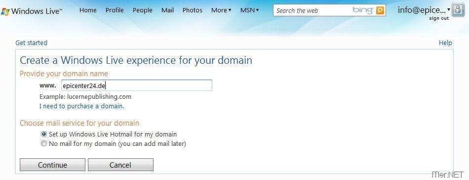 Eigene Domain eigene domain bei hotmail microsoft live mail einrichten anleitung