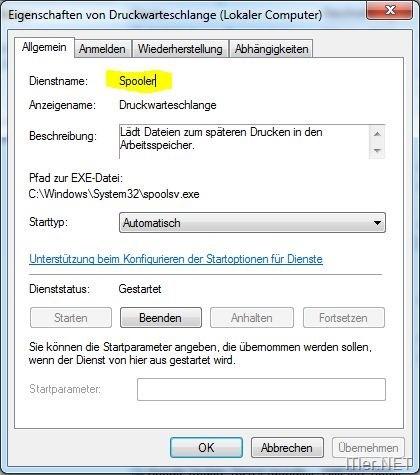 Windows Dienste per Batch starten – stoppen – neustarten