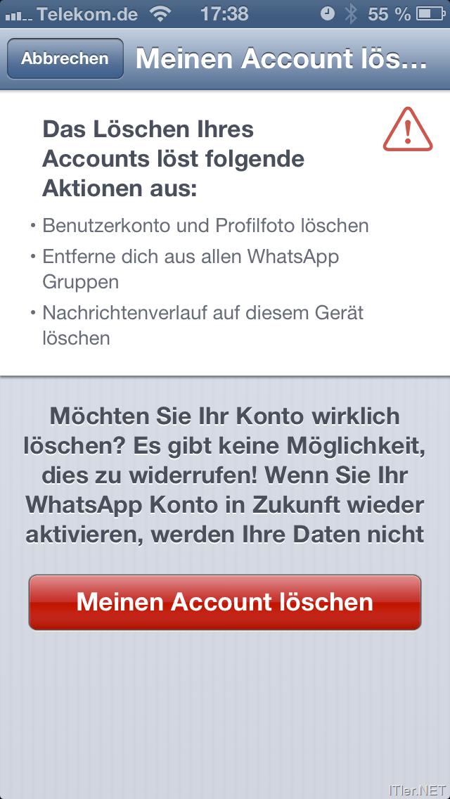 Account Löschen whatsapp account löschen über das iphone
