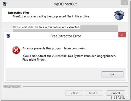 mp3DirectCut-Installation-Fehler-Invalid-Character-2