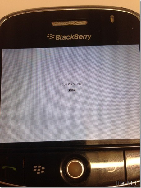 Blackberry-JVM Error 545- Fehler (1)