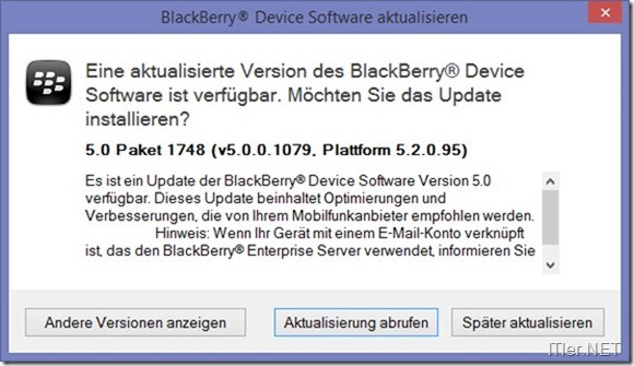 Blackberry-JVM Error 545- Fehler (4)