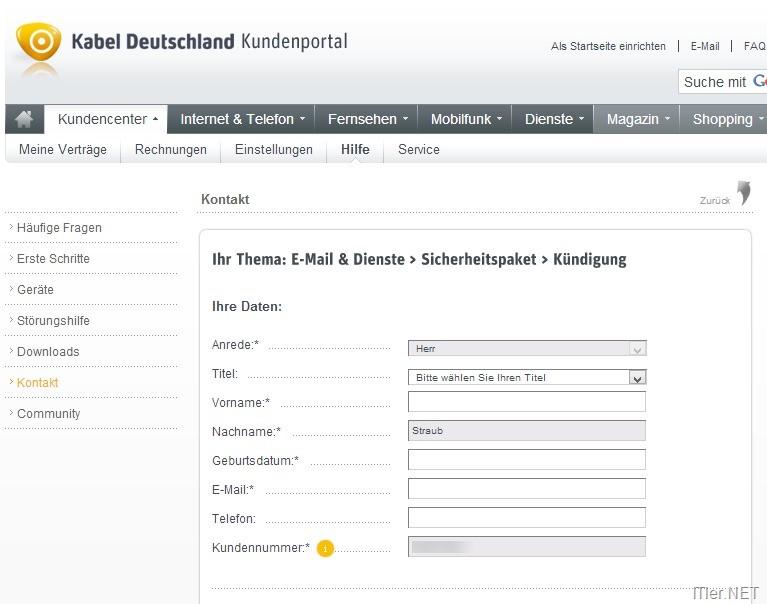 kabel deutschland sicherheitspaket kndigen 4 - Muster Kndigung Vodafone