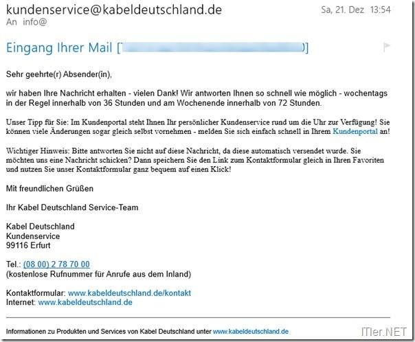kabel deutschland sicherheitspaket kndigen 6 - Kabel Deutschland Kundigung Muster