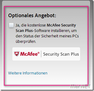Flash-Download-Zusatz-Software-Entfernen