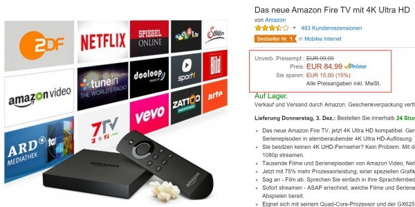 Amazon-Fire-TV-Angebot