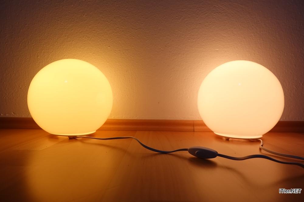 links die ikea lampen rechts die philips hue lampen - Lampen Ikea