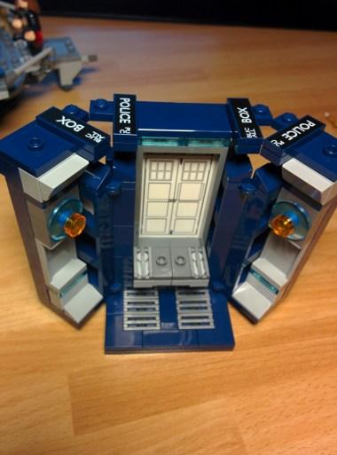 Il TARDIS aperto.
