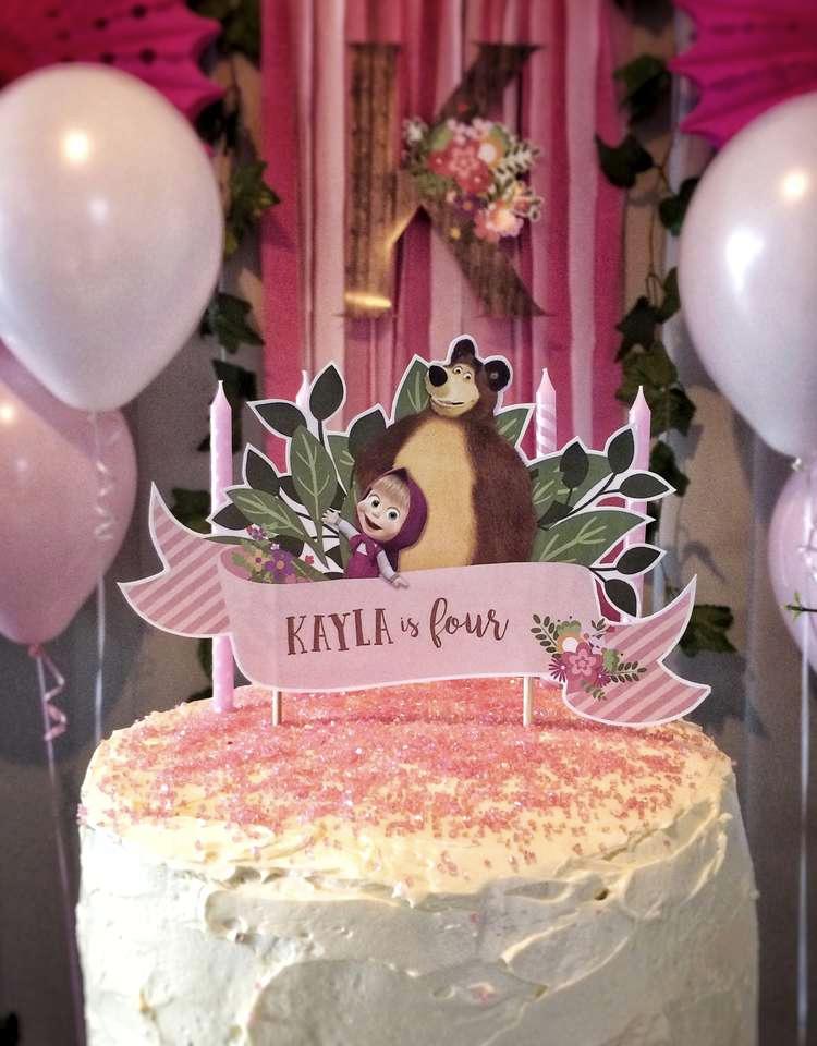 Topping de bolo personalizado Masha e o Urso It Mãe