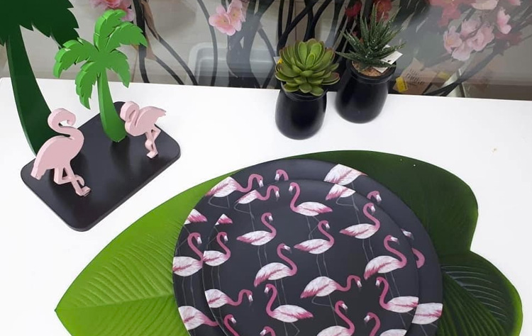 Segredo da festa em casa decoração de flamingo It Mãe