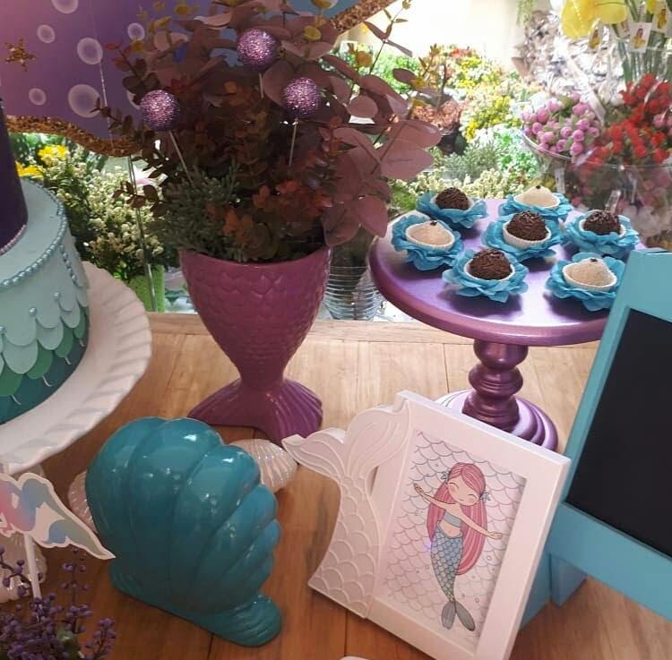 Segredo da festa em casa decoração sereia It Mãe