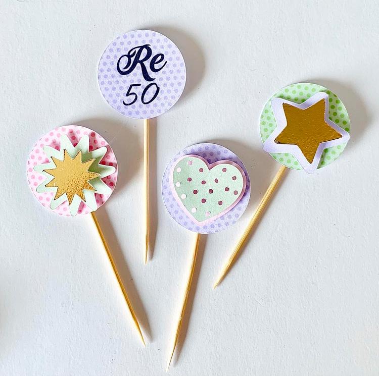 Topper para doces Papelaria Personalizada Candy Colors Magic Box Festas It Mãe
