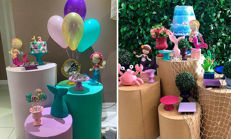 Festa em casa para crianças Sereia - Le Petit Personnaliser - It Mãe