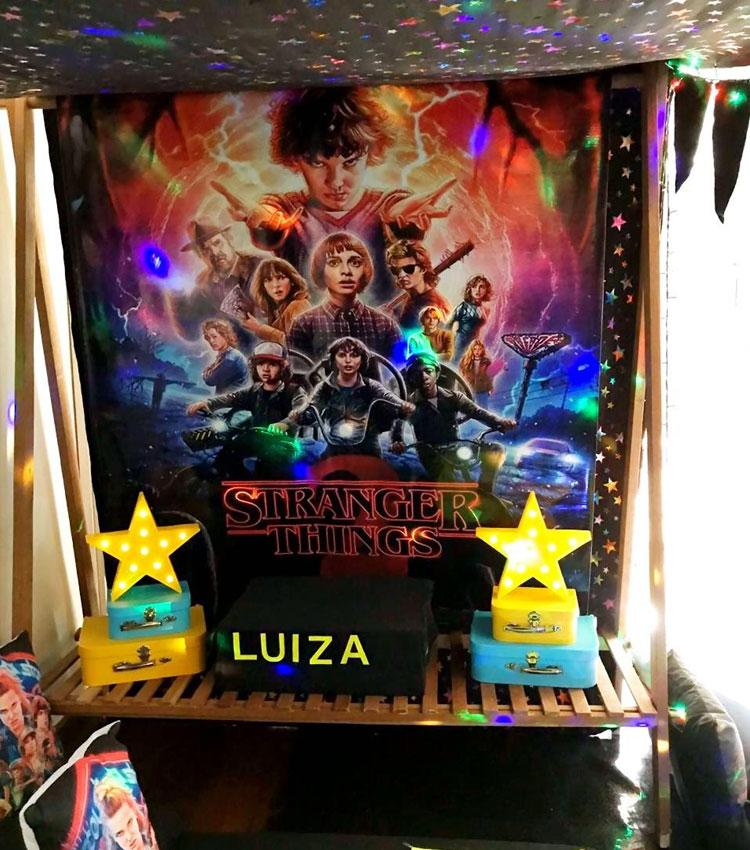 decoração stranger things pijamas party it mãe