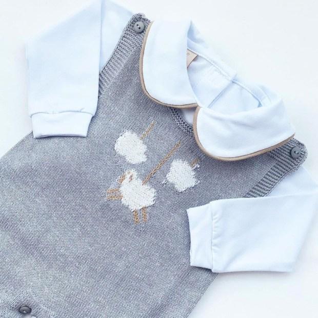 Macacão cinza para momentos especiais do bebê Petrushko Baby - It Mãe