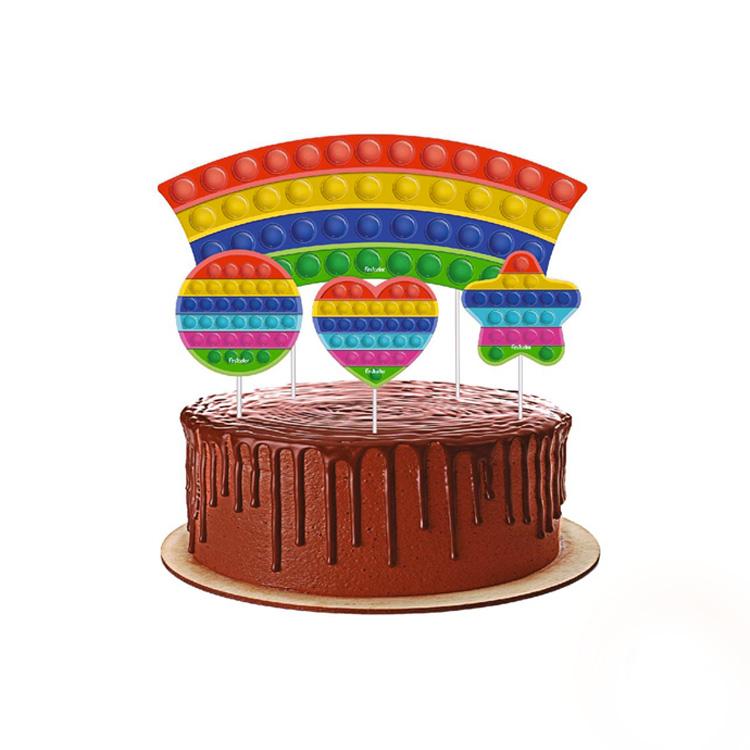 Topo de bolo Festa Fidget Toys - Rica Festa