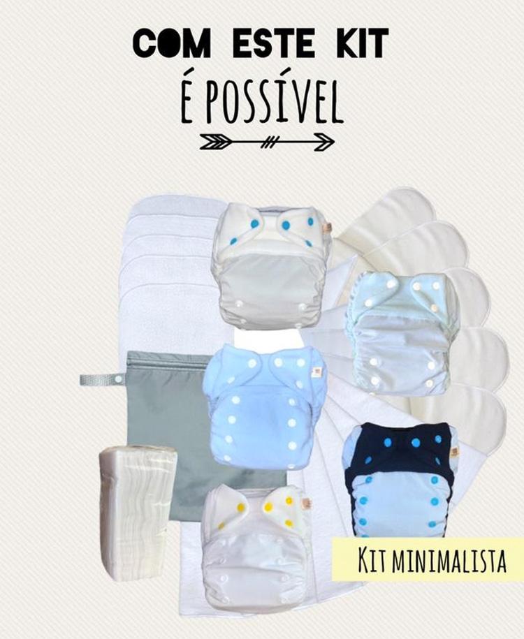 Kit Minimalista Fraldas Reutilizáveis Mayaru - It Mãe
