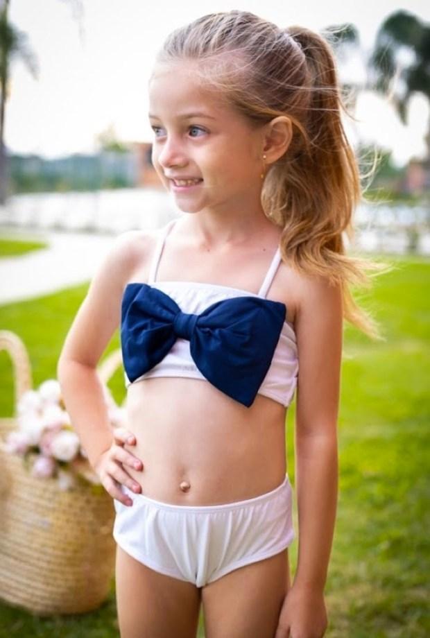 Biquíni laço azul Lookinhos para praia e piscina Planet Beach Brasil - It Mãe