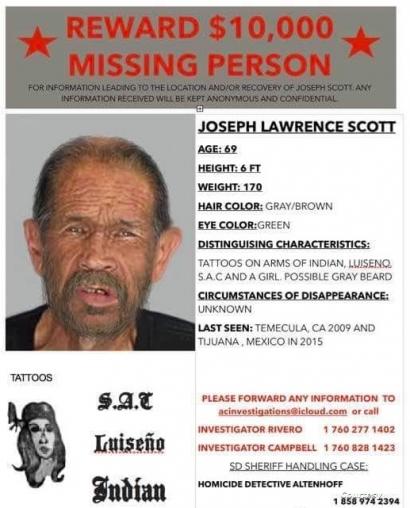 Missing Joseph Scott