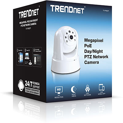 TRENDnet 1MP PoE PTZ IR IP Cam - Boxed
