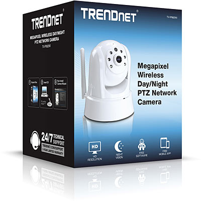 TRENDnet TV-IP662WI 1MP PoE PTZ IR Wireless IP Cam - Boxed