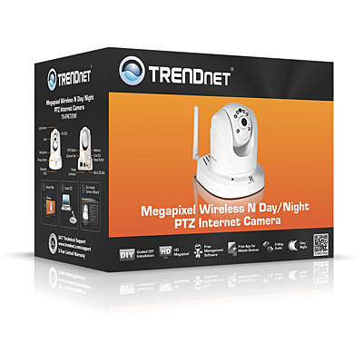 TRENDnet TV-IP662WI 1MP PoE PTZ IR Wireless IP Cam - Box