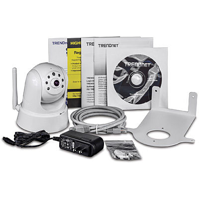 TRENDnet HD Wifi Day/Night IR PTZ Cloud Camera TV-IP862IC - Package