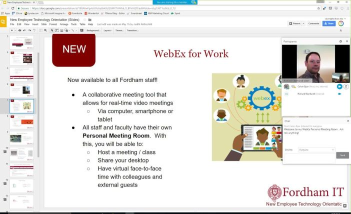 WebEx meeting in progress