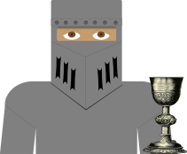 Image of the knight character from the Citation Grail Quest tutorial from City Tech