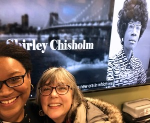 Sherry Antoine (AfroCROWD) with Jane Suda (Fordham Library)