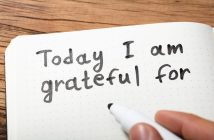 """Notebook page with text """"Today I am grateful for"""""""