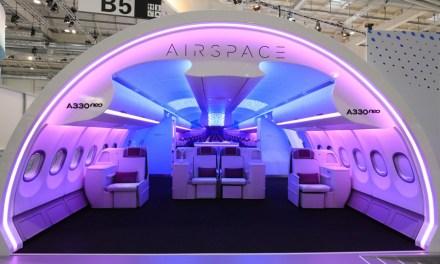 Airbus καμπίνα με άνεση του επιβάτη