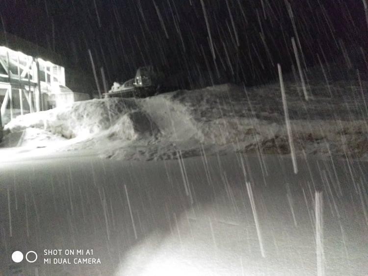 Χιονόπτωση σημειώνεται στον Παρνασσό