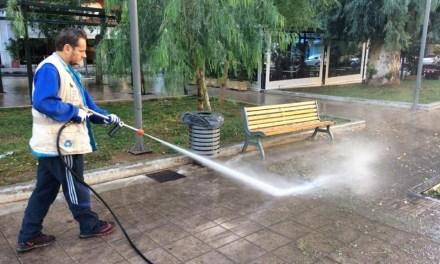 Παρέμβαση καθαριότητας του Δήμου Αθηναίων στον Άγιο Παντελεήμονα