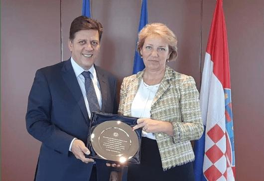 Συνάντηση Αναπληρωτή Υπουργού Εξωτερικών, Μιλτιάδη Βαρβιτσιώτη, με την Υπουργό Ευρωπαϊκών Υποθέσεων της Κροατίας Andreja Metelko-Zgombic  (Αθήνα, 08.11.2019)