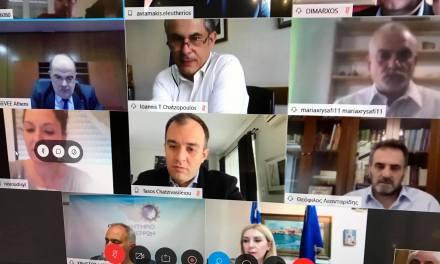 Πραγματοποιήθηκε την Πέμπτη 7 Μάιου 2020 στις 19:00 η τηλεδιάσκεψη φορέων του Ν. Σερρών για τα νέα μέτρα λειτουργίας των καταστημάτων εστίασης λόγω της πανδημίας Covid-19