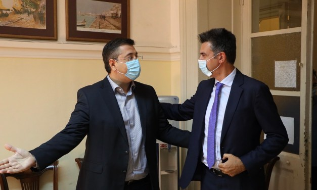 Συνάντηση του Περιφερειάρχη Κεντρικής Μακεδονίας Απόστολου Τζιτζικώστα με τον Γενικό Γραμματέα Δημοσίων Επενδύσεων και ΕΣΠΑ Δημήτρη Σκάλκο