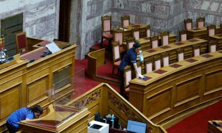 1.820 αρνητικά τεστ στη βουλή