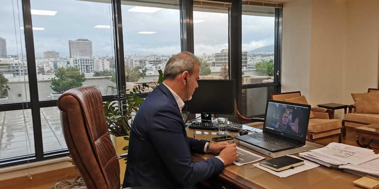 O  Γ.Γ. του ΕΟΤ κ. Δημήτρης Φραγκάκης σε τηλεδιάσκεψη του Παγκοσμίου Συμβουλίου Ταξιδίων και Τουρισμού
