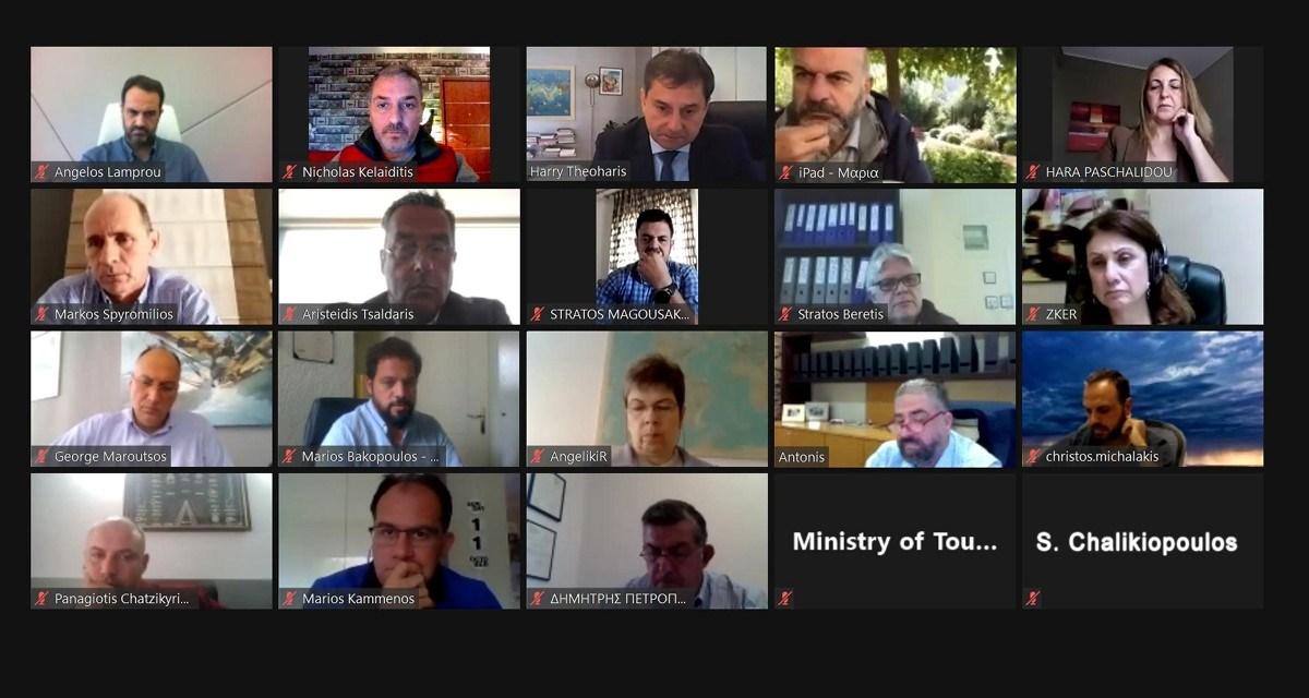Τηλεδιάσκεψη με τον Χ. Θεοχάρη για τη βιωσιμότητα και την ανταγωνιστικότητα των τουριστικών γραφείων