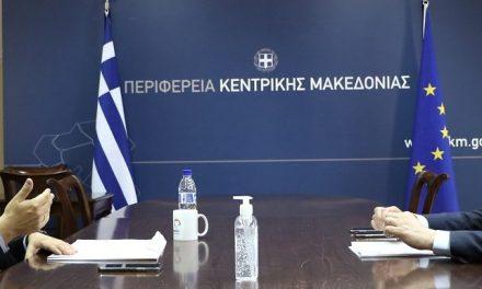 Τα έργα στο Άγιον Όρος και ζητήματα του Απόδημου Ελληνισμού συζήτησαν στη σημερινή συνάντησή τους Α. Τζιτζικώστας και Κ. Βλάσης